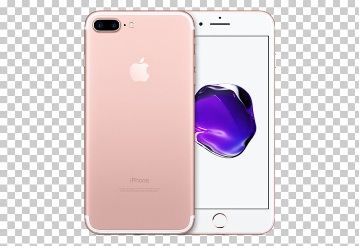 Apple iPhone 7 Plus iPhone X Telephone rose gold, apple PNG.
