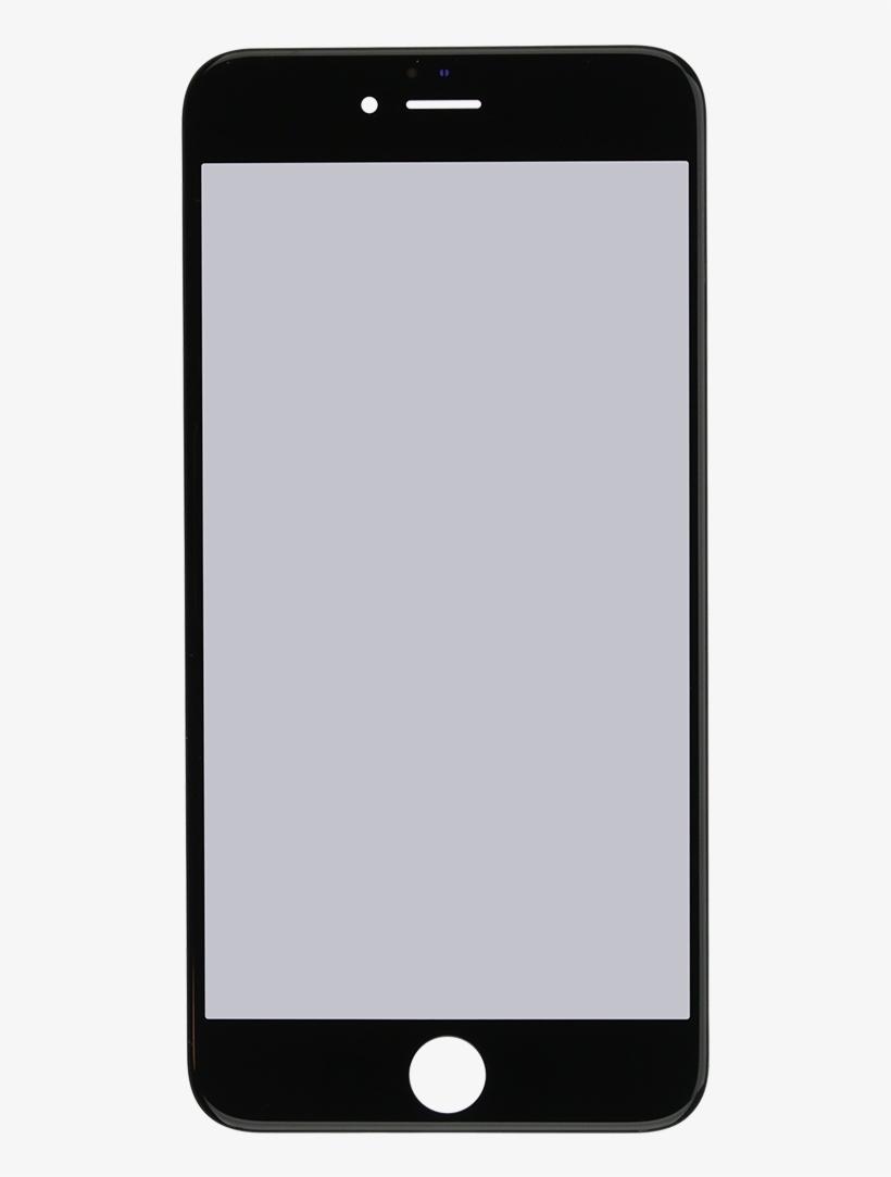 Iphone 6s Plus Black Glass Lens Screen, Frame, Oca.