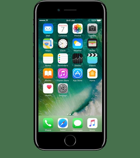 Iphone 7 Black transparent PNG.