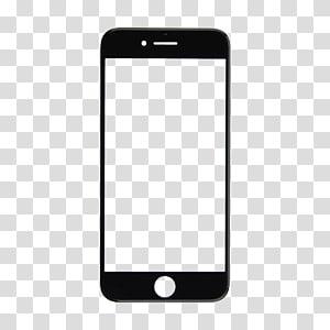 White iPhone 5, iPhone 6 iPhone 5 iOS Mockup, Hand phone transparent.