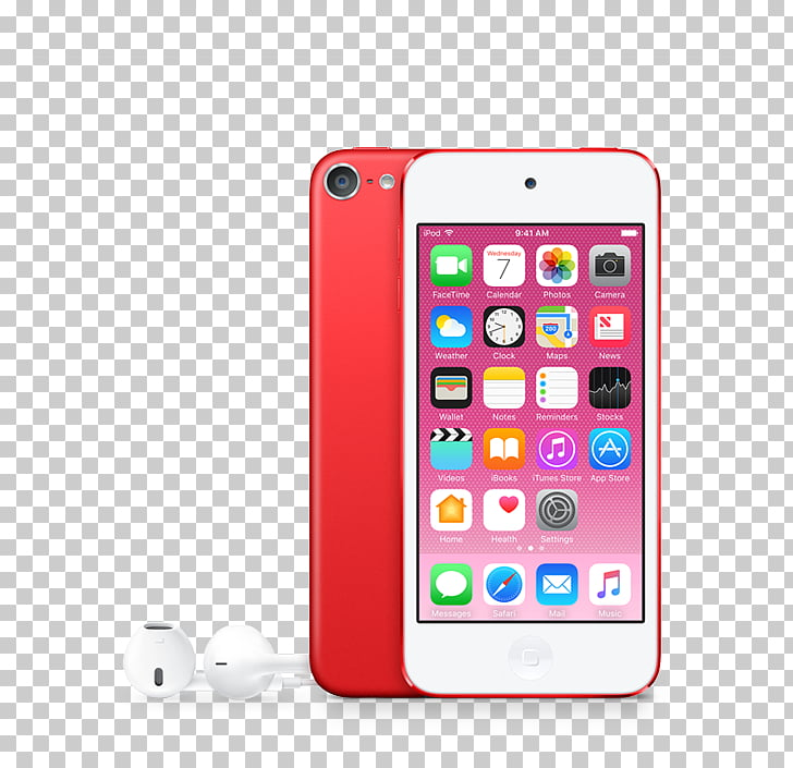IPod Touch Apple iSight FaceTime, iphone 7 red PNG clipart.
