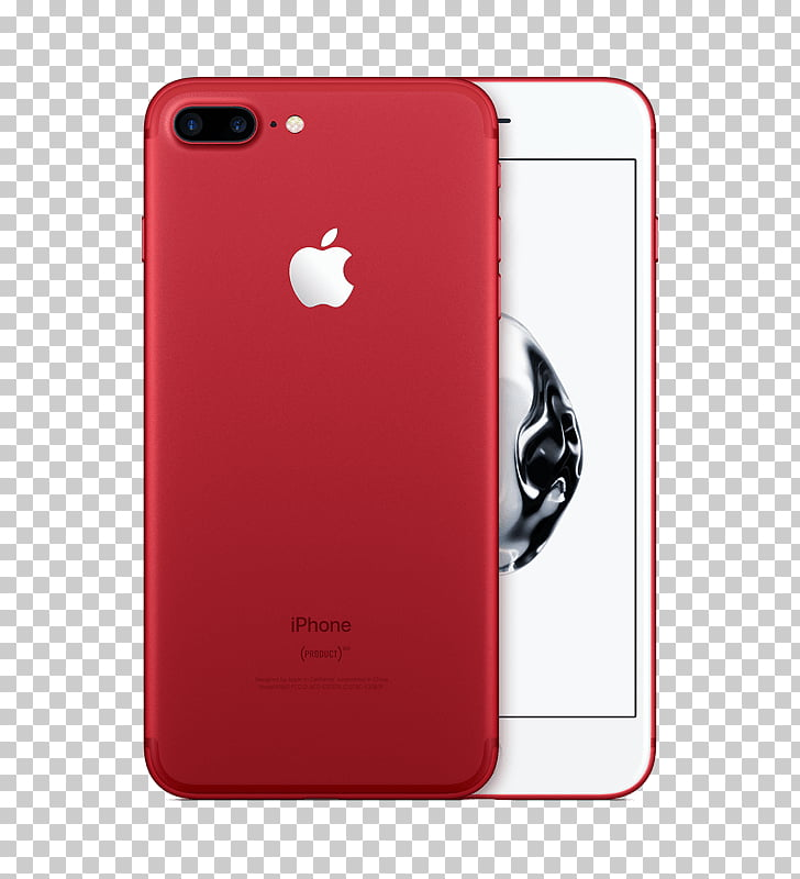 Telephone Product Red Apple LTE, iphone 7 red PNG clipart.
