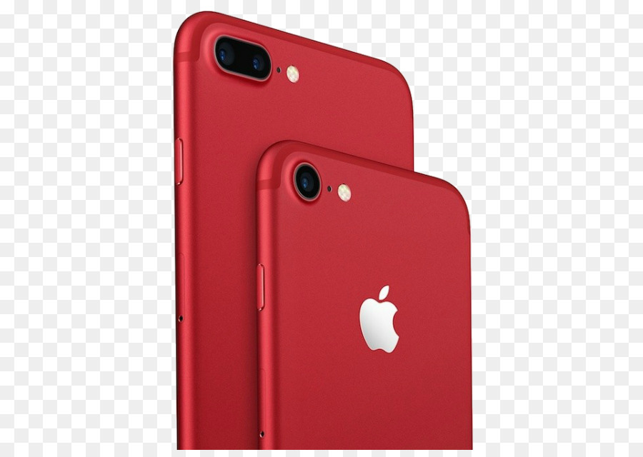 Apple Iphone 7 Plus Red png download.