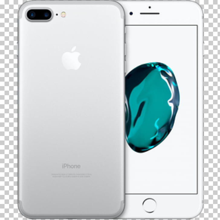 Apple iPhone 7 Plus AT&T silver iOS, apple PNG clipart.