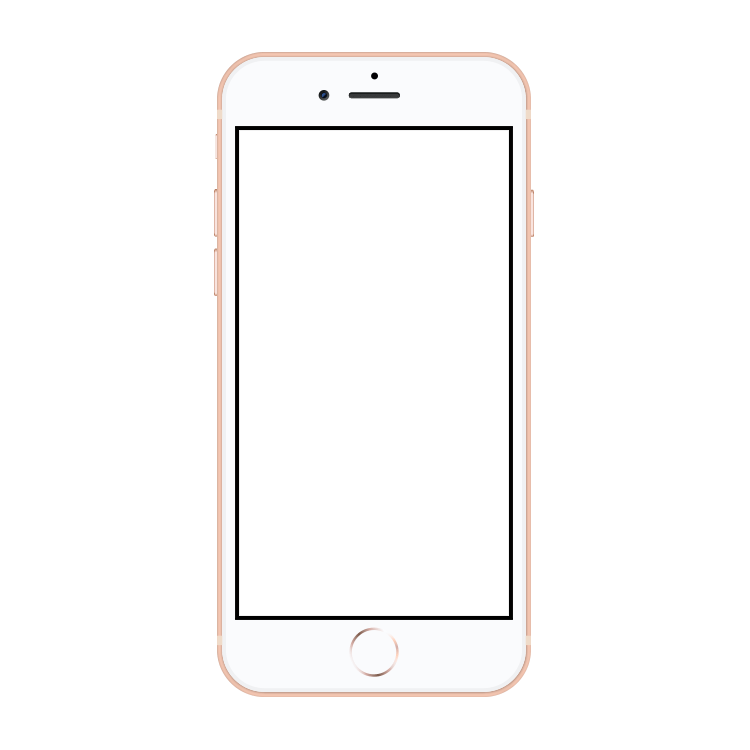 iPhone 8 Plus Gold Mock Up.