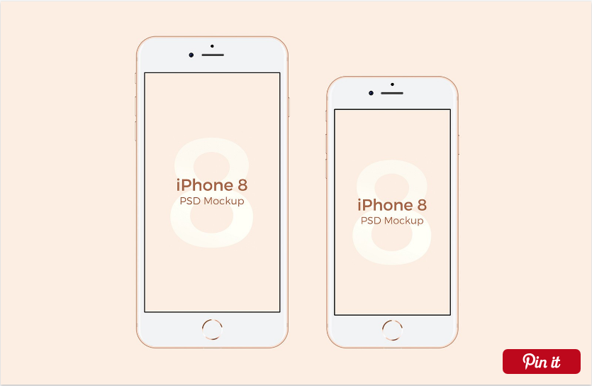 25 Best iPhone 8 Mockups and Templates for Free Download [PSD+Sketch].
