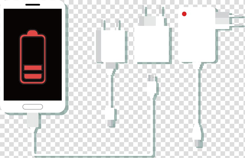 IPhone 8 Battery charger Telephone, phone plug transparent.
