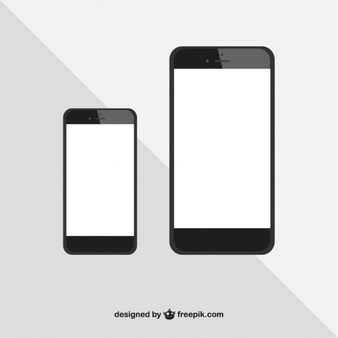 Iphone Silhouette Vector.