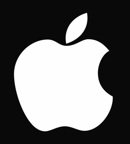 Apple Logo Die Cut Vinyl Decal Sticker.