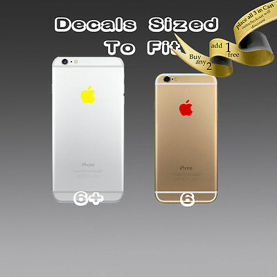 4X ) Apple Logo Sticker Decal Vinyl for iPhone 6s 6s+ 6 6+ 6.