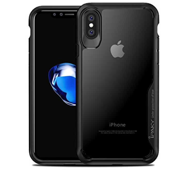 Ipaky Survival TPU Bumper Protective Case Back Cover for iPhone X (Grey).
