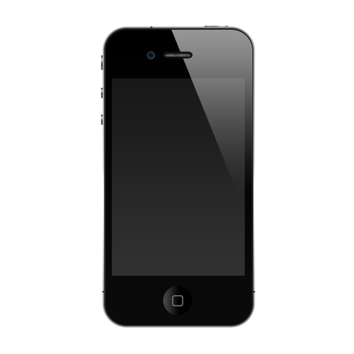 Black IPhone Icon, PNG ClipArt Image.