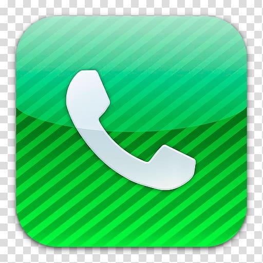 IPhone iOS 6 Telephone, phone icon transparent background.