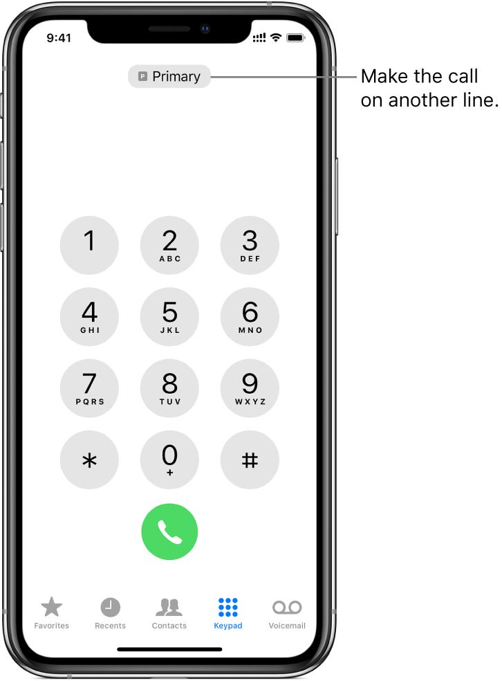 Make a call on iPhone.