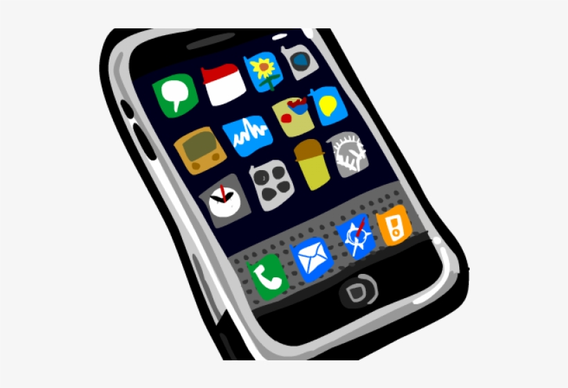 Apple Iphone Clipart Outline.