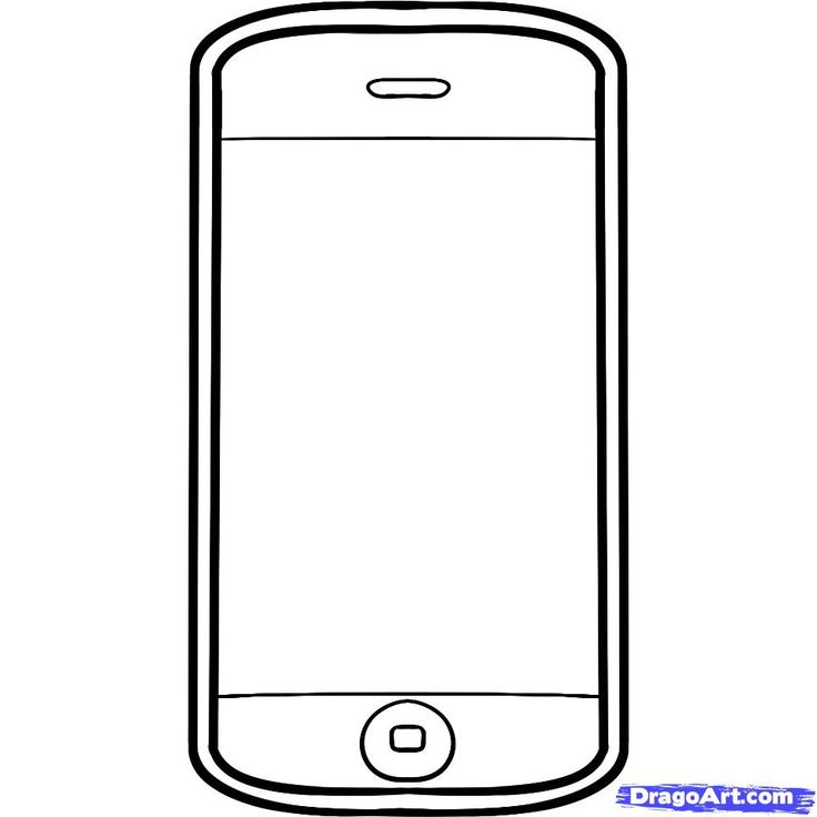 Blank iphone clipart.