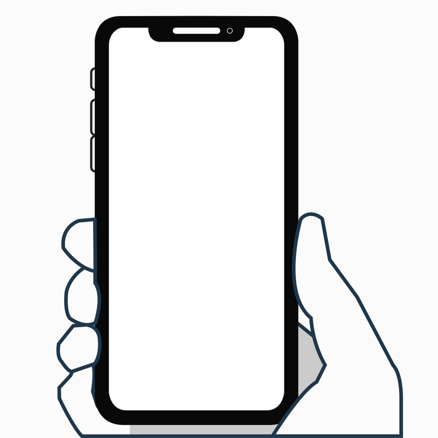 Iphone X clipart.