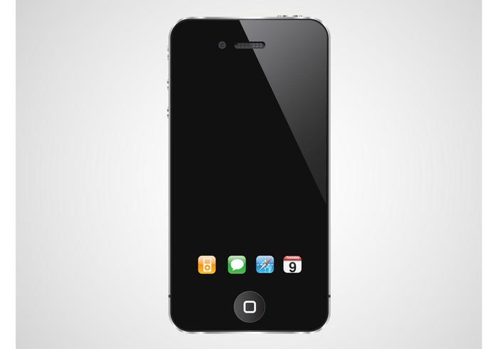 iPhone With Dock Icons.