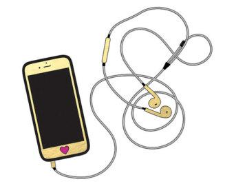 Headphone clipart iphone headphone, Headphone iphone.