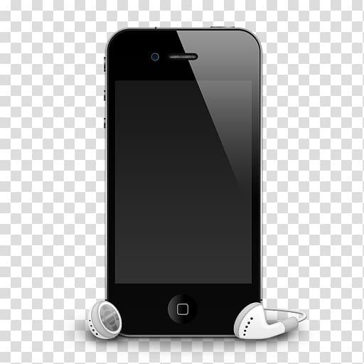 IPhone 5 Apple earbuds Headphones, mobile transparent.