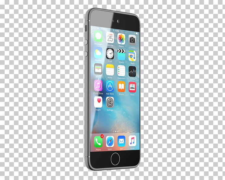 Iphone 7, iPhone showing home screen PNG clipart.