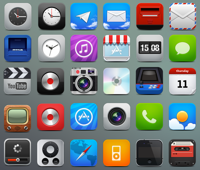 iPhone Icons: 40 Icon Sets For Your iPhone.