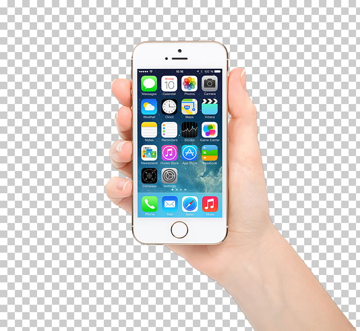 IPhone 5s iPhone SE Apple, iphone in hand transparent PNG.