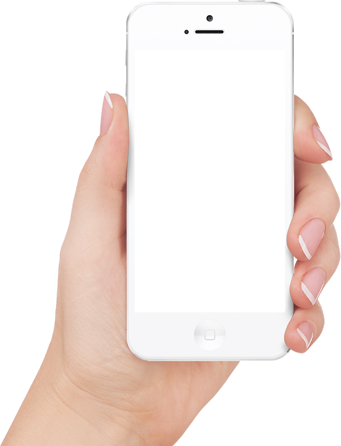 In Hand White Iphone transparent PNG.