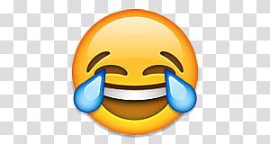 Emojis Editados, laughing emoji transparent background PNG.