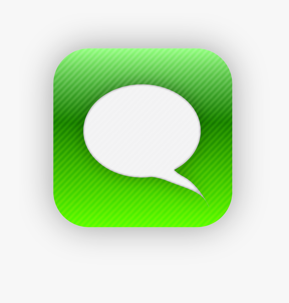 18 Sms Iphone App Icons Images Text Message Icon.