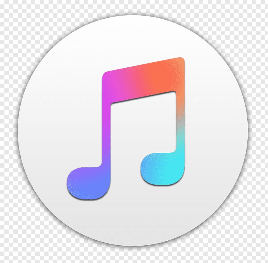 Musical note illustration, Apple Music App Store iTunes iOS.