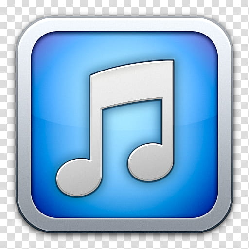 ITunes flurry style, white and blue iPhone music icon.