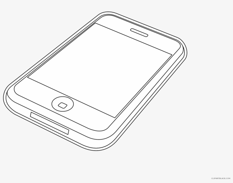 Iphone Outline Clipart.