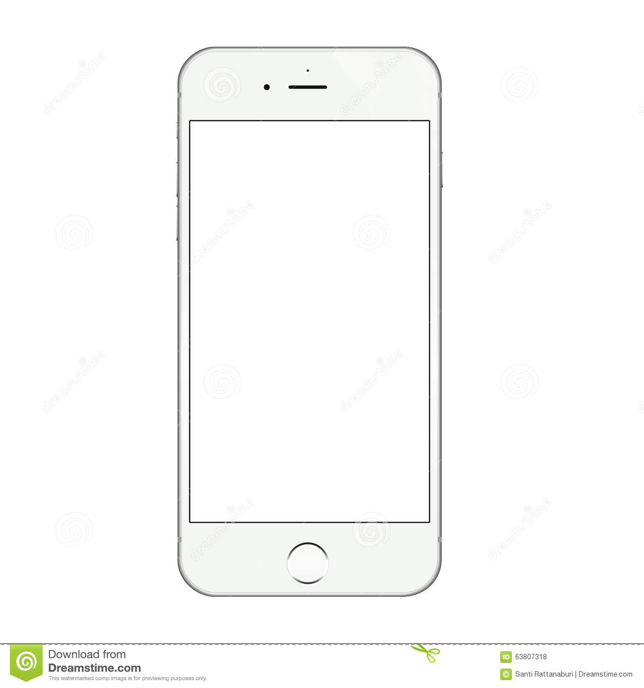 Blank Iphone Screen Clipart.