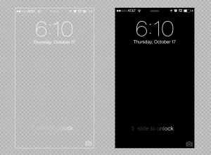 iPhone 5 Lock Screen Background Template.