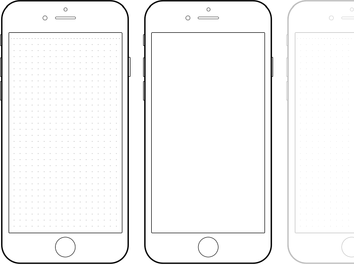 iPhone 6 Drawing Template.