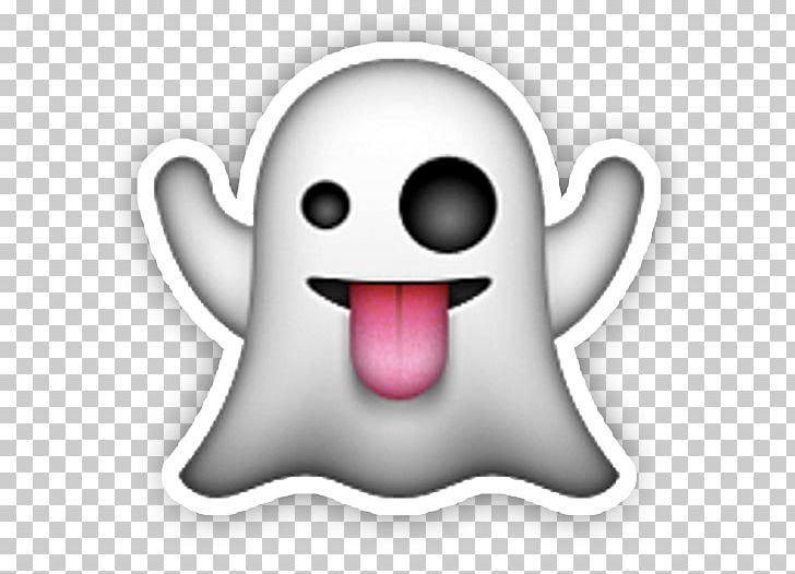 Sticker Apple Color Emoji Halloween Ghost IPhone PNG.