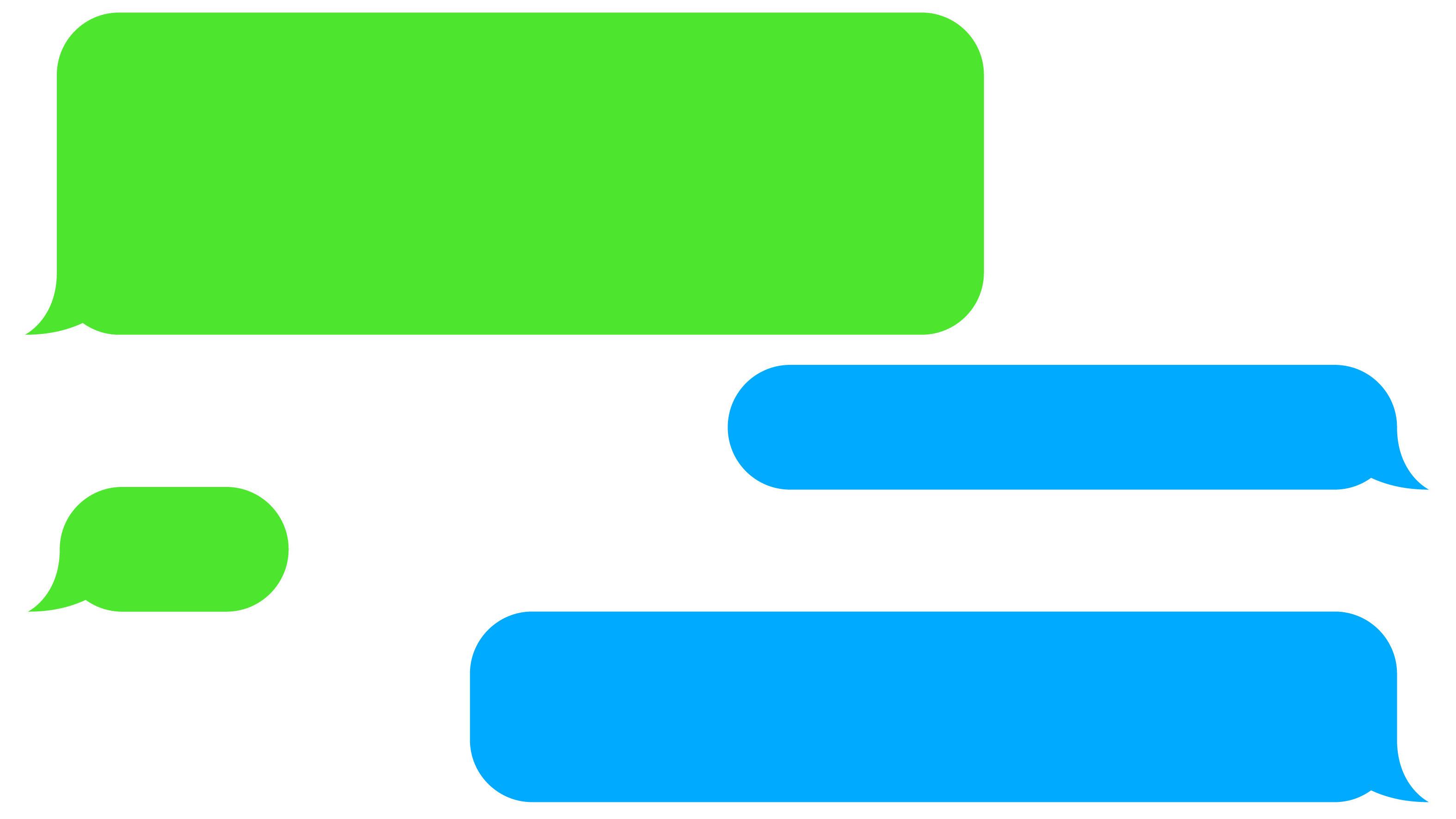 green text bubble.