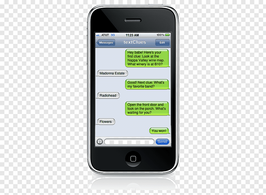 IPhone Text messaging SMS Messages, treasure your time map.