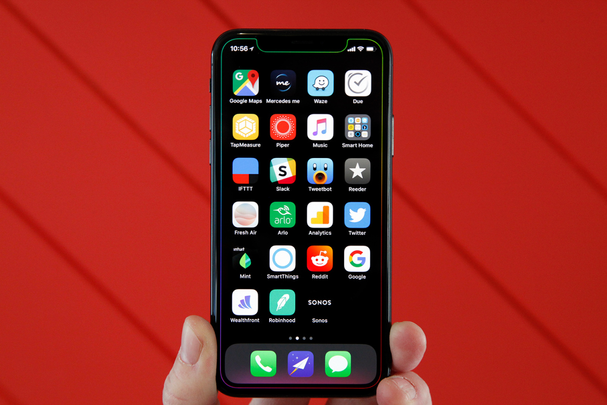 The perfect way to show off the notch on your iPhone X.