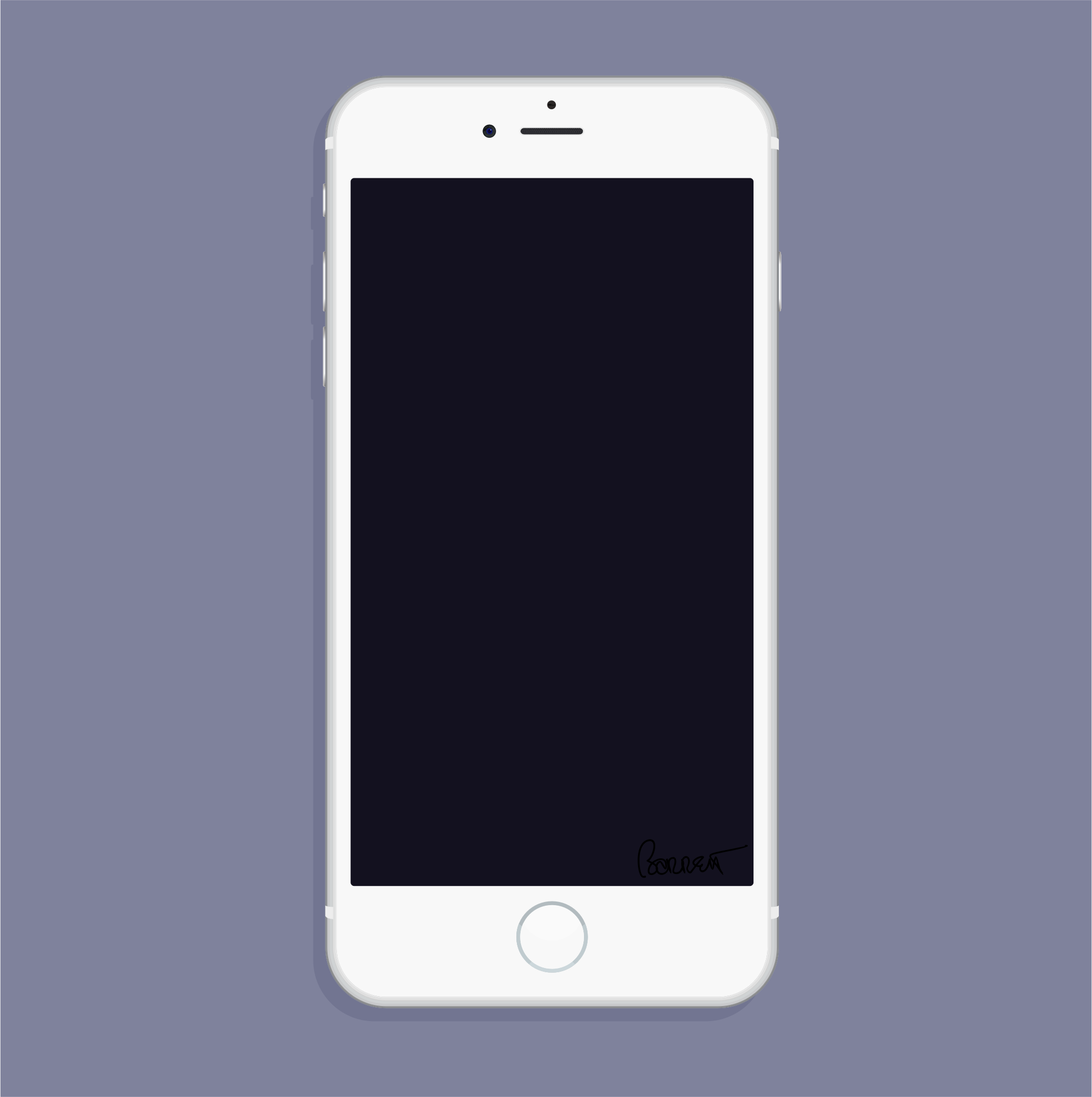 White Iphone Clipart.