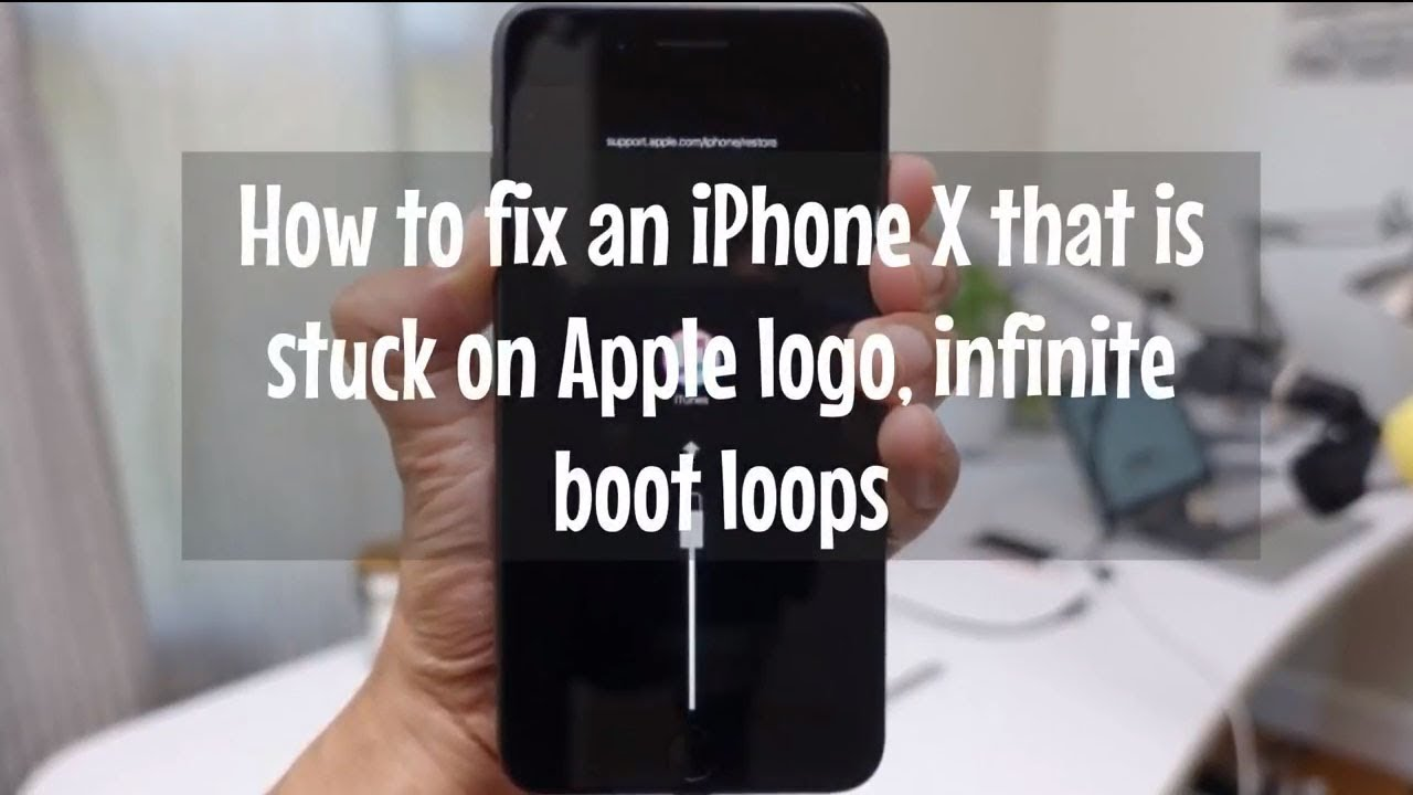 How to fix an iPhone X that is stuck on Apple logo, infinite.