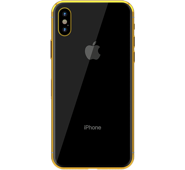 GOLD PLATED APPLE IPHONE X, 256gb, space grey yellow gold.