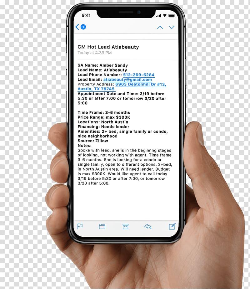 IPhone X Smartphone Apple, smartphone transparent background.