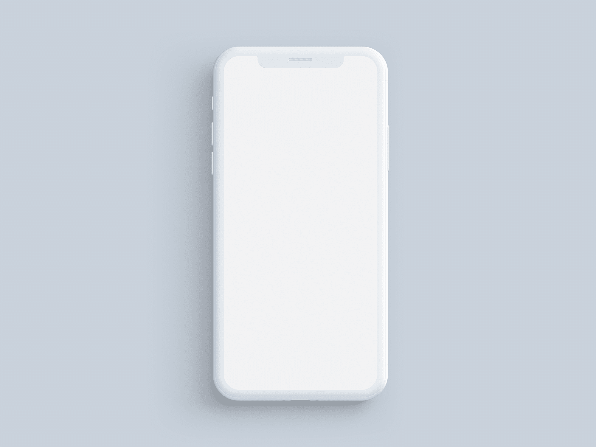 Simple Customizable iPhone X Mockups.