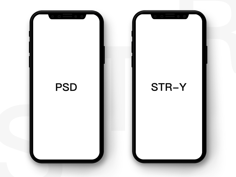 Free Black and Clean iPhone X Mockup.