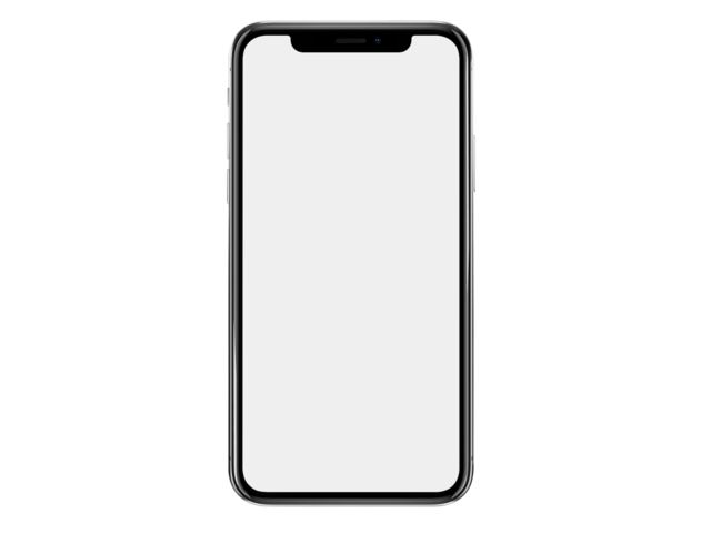 iPhone X Mockup Against Transparent Background a17152.