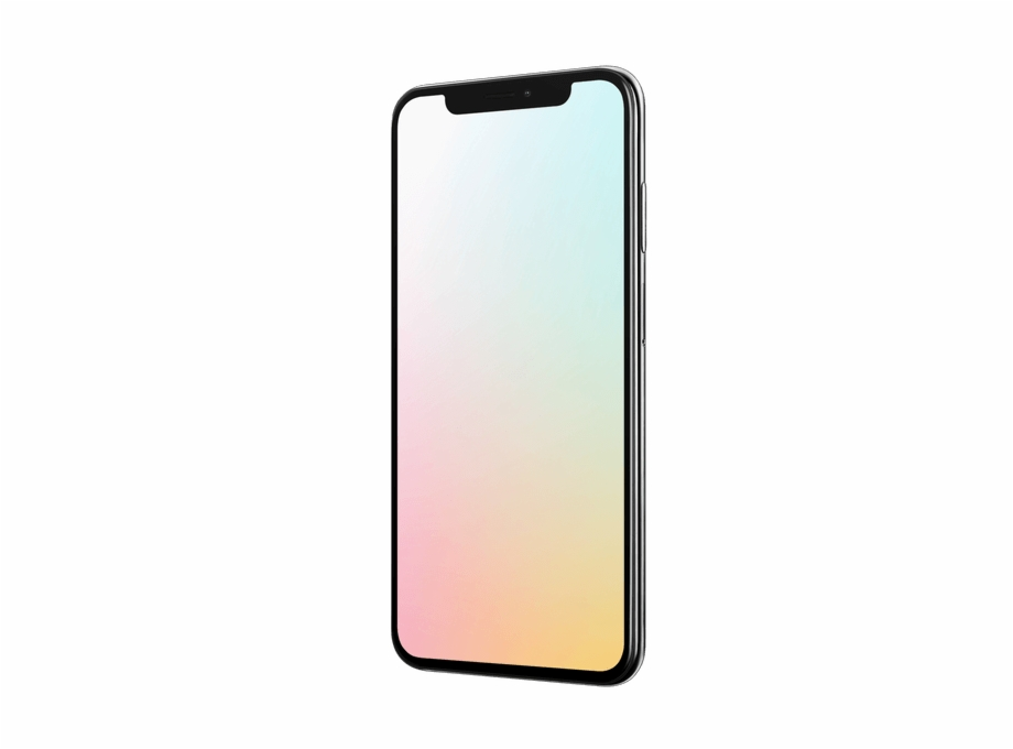 Iphone X Mockup With Colorful Back.
