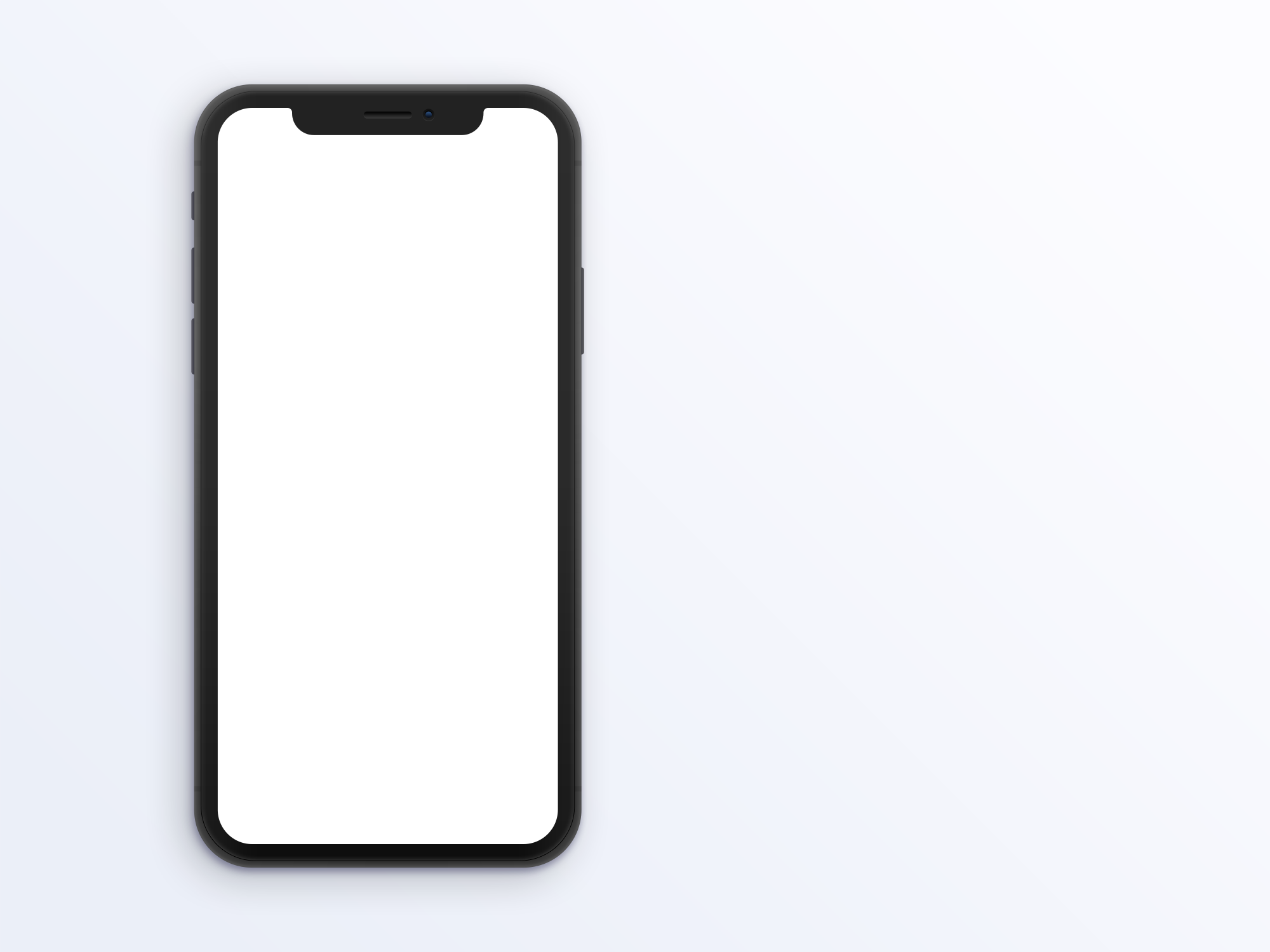 Space Gray iPhone X Clay Mockup.