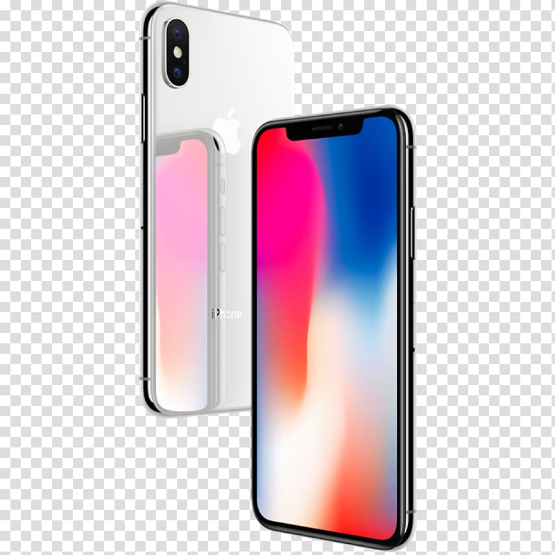 Silver iPhone X and space gray iPhone X, IPhone 8 Plus.